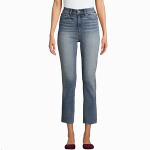 NWT CROPPED HIGH RISE RAW HEM PLUS SIZE JEANS 20